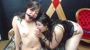 Lesbians have fun with BDSM